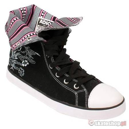 ADIO Paddington WMN black/white/pink shoes