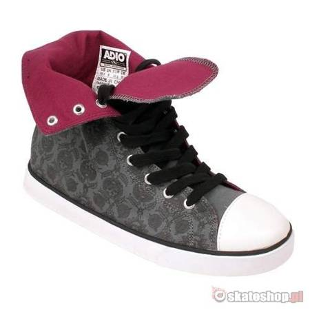 ADIO Paddington WMN graphite/black/skulls shoes