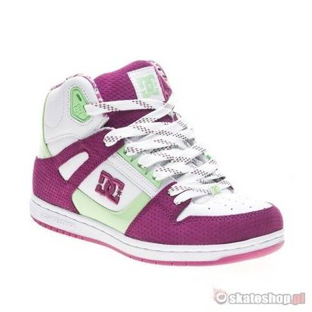 DC Rebound HI WMN white/purple wine shoes