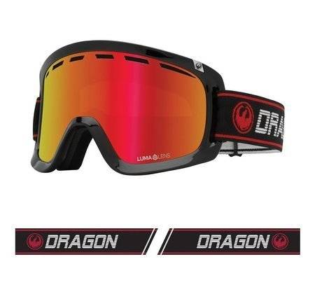 DRAGON D1 OTG '21 Infrared red ionized + rose snow goggles