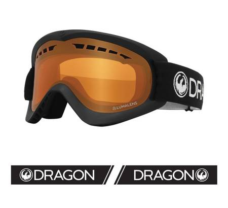 DRAGON DX '21 black amber snow goggles