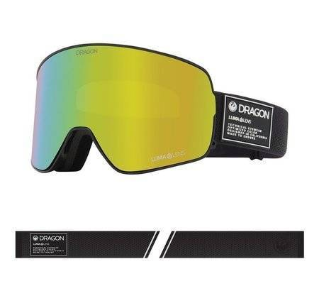DRAGON NFX2 '21 Anthracite gold ionized + amber snow goggles