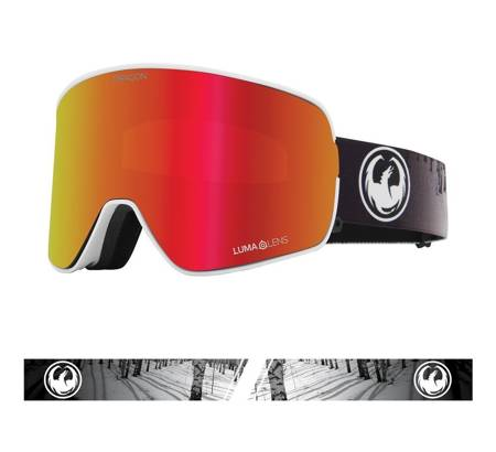 DRAGON NFX2 '21 (calm) red ionized + rose snow goggles