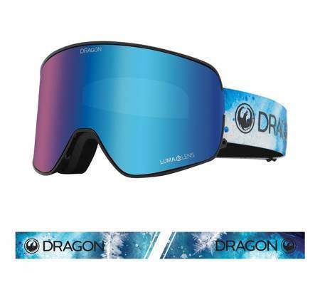 DRAGON NFX2 '21 (permafrost) blue ionized + amber snow goggles