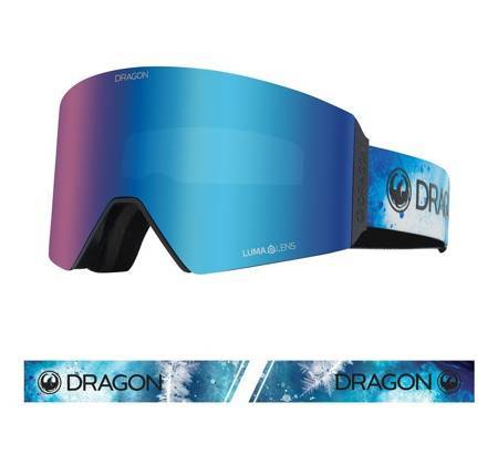 DRAGON RVX OTG '21 Permafrost blue ionized + amber snow goggles