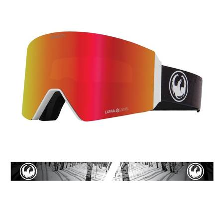DRAGON RVX OTG '21 The Calm red ionized + rose snow goggles