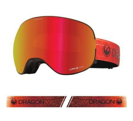 DRAGON X2 '21 Inferno red ionized + rose snow goggles
