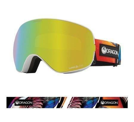 DRAGON X2s '21 Hot Duck gold ionized + yellow snow goggles
