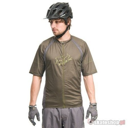FOX Live Wire Zip olive green t-shirt