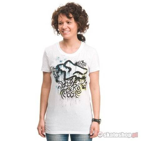 FOX Overspray WMN white t-shirt