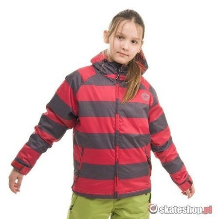 SESSIONS Buckie Heather Stripe J's red/grey snowboard jacket