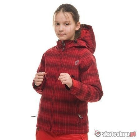 SESSIONS Buckie Plaid J's red snowboard jacket