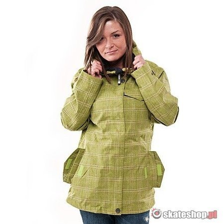 SESSIONS Galaxy WMN lime plaid snowboard jacket