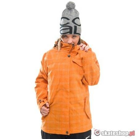 SESSIONS Galaxy WMN orange plaid snowboard jacket
