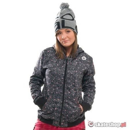 SESSIONS Go Softshell WMN black roses snowboard jacket