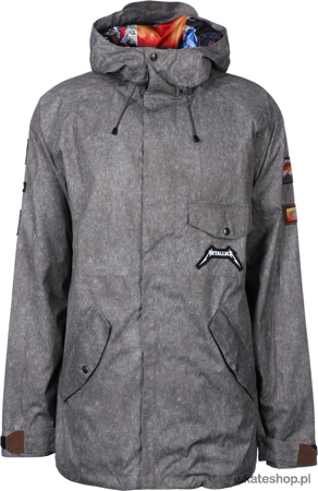 SESSIONS X Metallica (charcoal) snowboard jacket