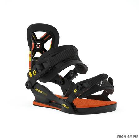 UNION Cadet Pro (orange camo) snowboard bindings