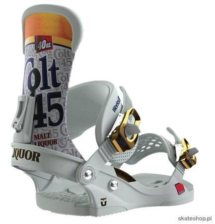 UNION Custom House x Colt 45 (malt liquor) snowboard bindings