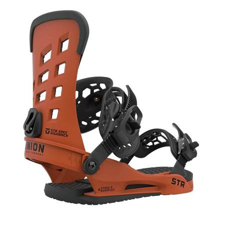 UNION STR '21 (burnt orange) snowboard bindings