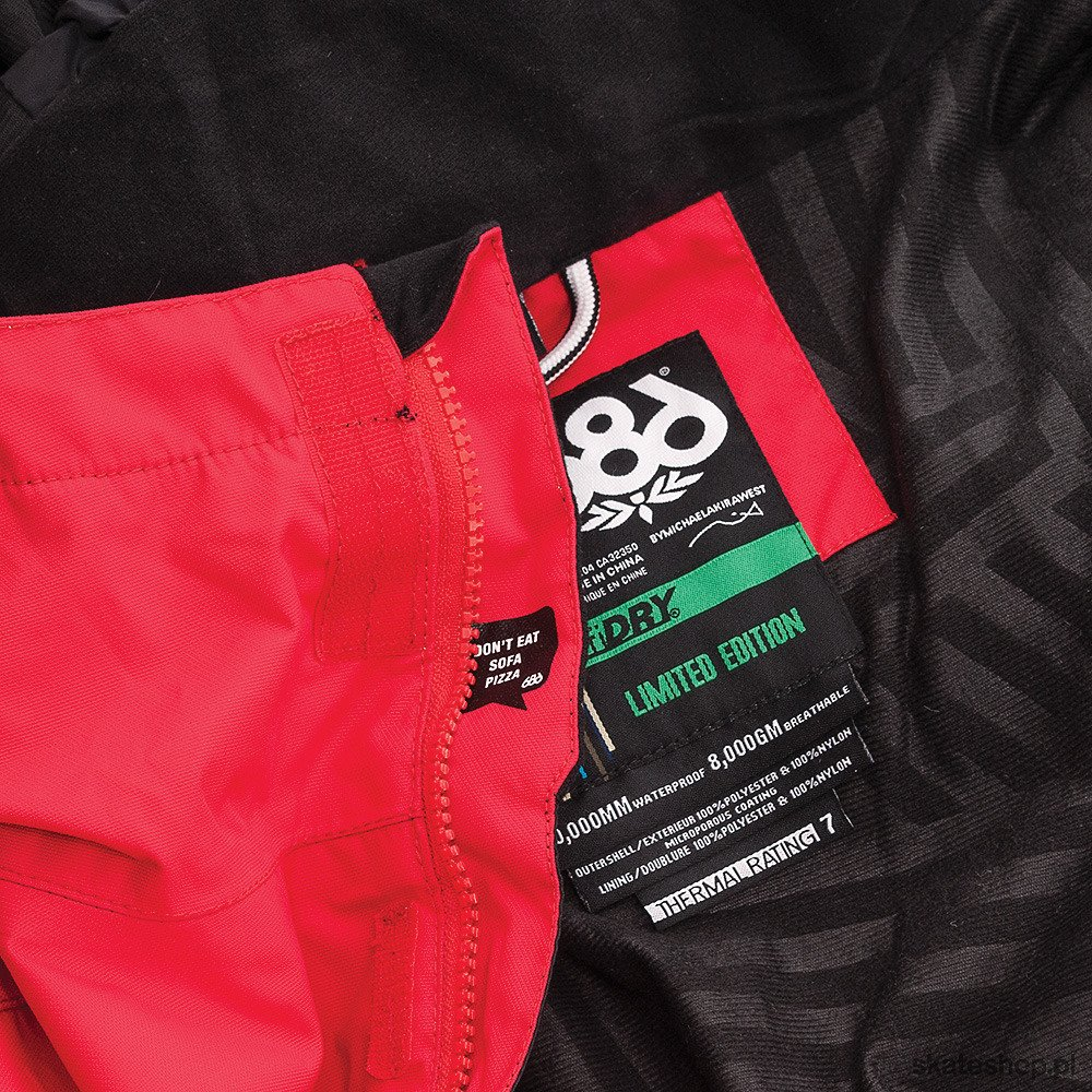 686 Ltd Ed Snaggletooth Junior Red Jacket