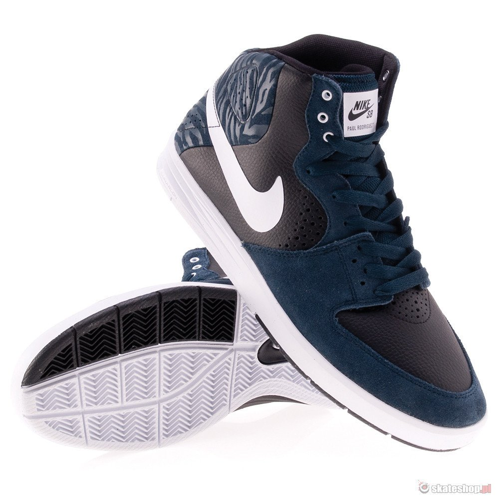 brand new bf69a 21f53 ... NIKE SB Paul Rodriguez 7 High (armory navywhiteblack) shoes ...