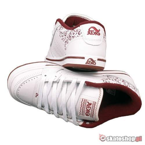 ADIO Snap WMN white/dark red shoes