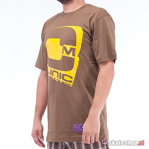 CLINIC Big C (brown/yellow) t-shirt
