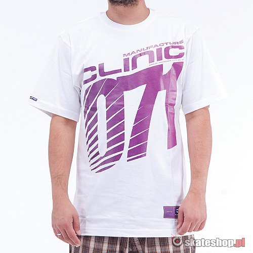 CLINIC Old School Logo (white/violet) t-shirt