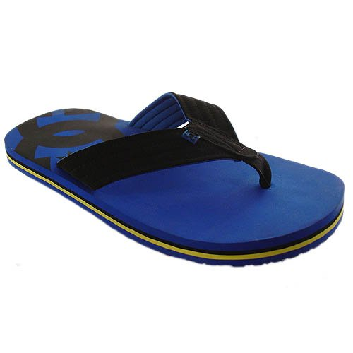 DC Wide body royal/black flip-flops