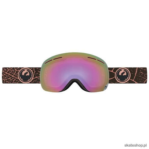 DRAGON X1s (Petal Pink / Pink Ion + Blue Steel) snow goggles