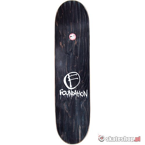 FOUNDATION Thrasher (white) 7.875 skateboard deck