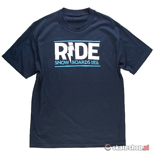 RIDE Lightning Logo (navy) t-shirt