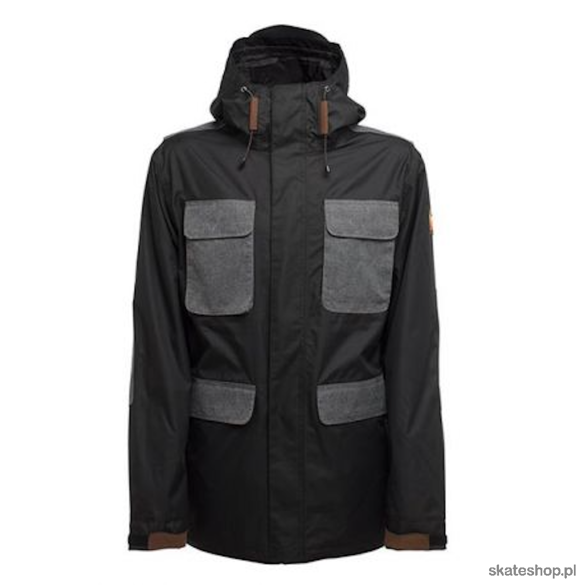 SESSIONS Airborne (black) snowboard jacket