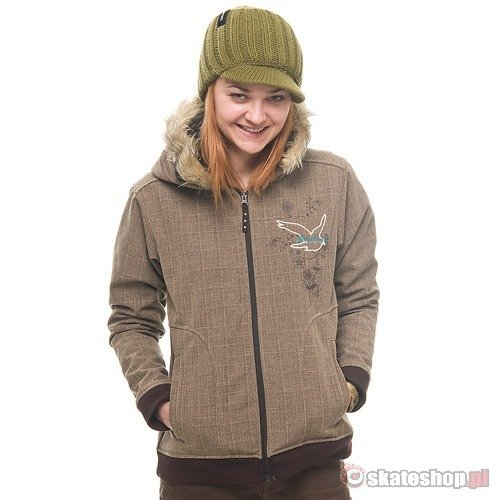 SESSIONS Comet Softshell WMN java brown snowboard jacket