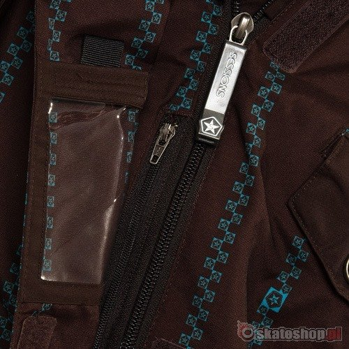 SESSIONS Cruiser Pinzip WMN java/teal snowboard jacket