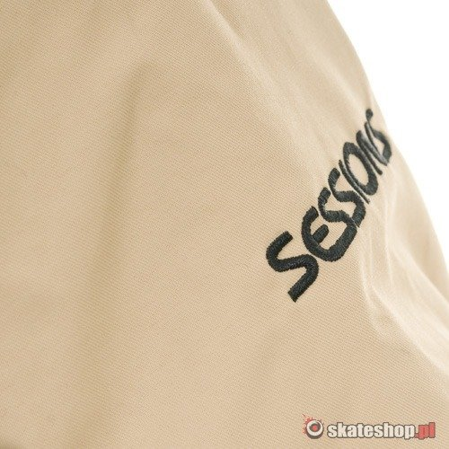 SESSIONS Hanford J's beige/brown plaid snowboard jacket