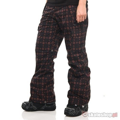 SESSIONS Lucky Star Print WMN black/warm clay snowboard pants