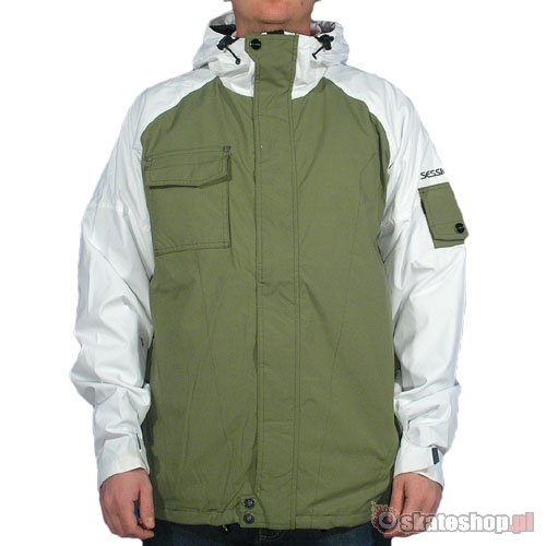 SESSIONS Nimmons inftry/white snowboard jacket