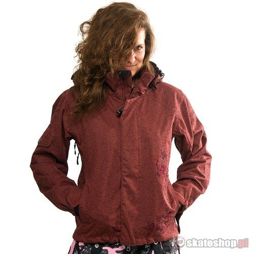 SESSIONS Norfolk WMN burgundy wool snowboard jacket