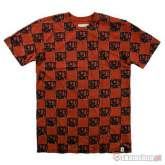 ALTAMONT Check red t-shirt