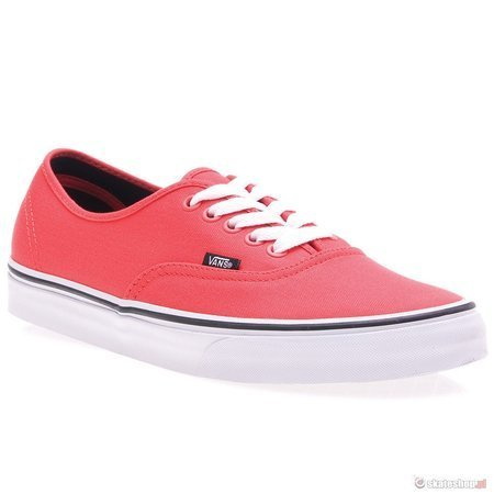 Buty VANS Authentic (fiery red/black) czerwone