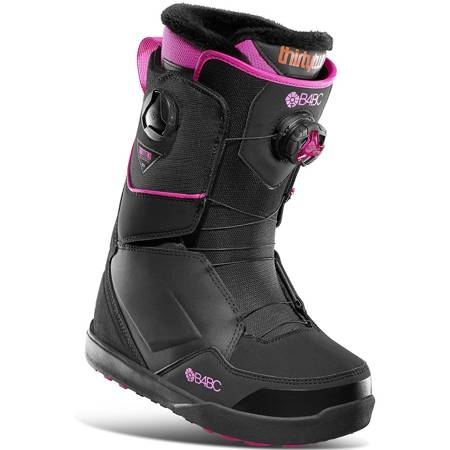 Buty snowboardowe THIRTYTWO Lashed Double BOA WMN '21 (black/pink)