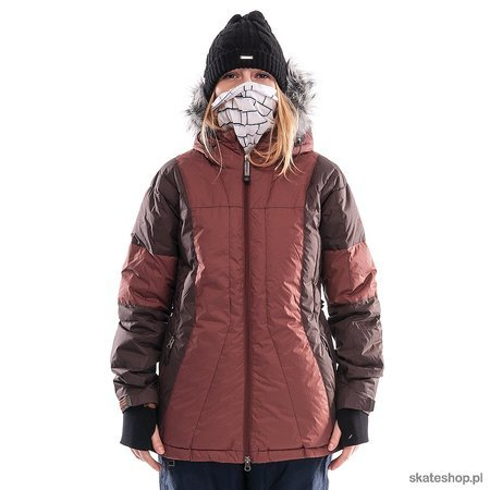 Kurtka snowboardowa SESSIONS Ergonomic WMN (brown) brązowa