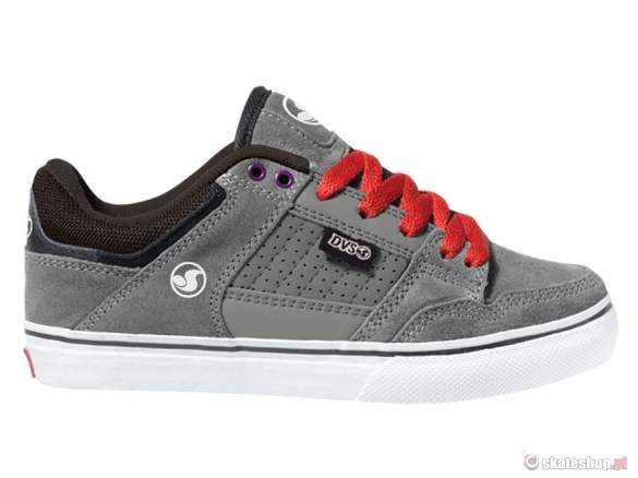 Buty DVS Ignition CT KIDS (grey black suede) szaro - czarne