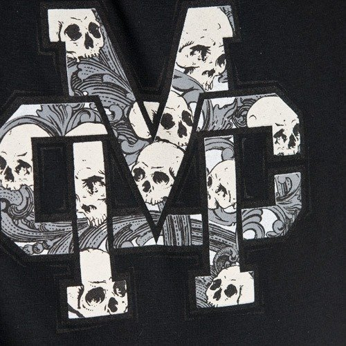 Longsleeve MC WEAR Ol Skull (black/dark grey) czarno-szary